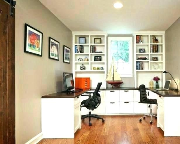 Image Result For Home Office Layout For Two Home Office Layouts Home Office Design Shared Home Offices
