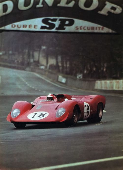 Ferrari 312P at the 24 Hours of Le Mans 1969