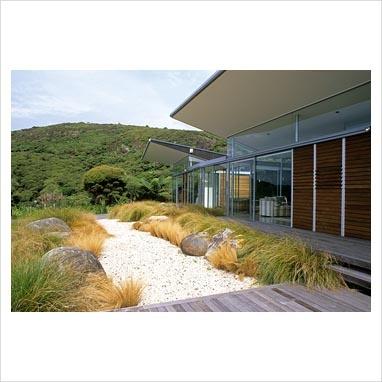 Modern NZ grass garden