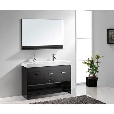 Digital Art Gallery Virtu USA Gloria Espresso Double Sink Bathroom Vanity