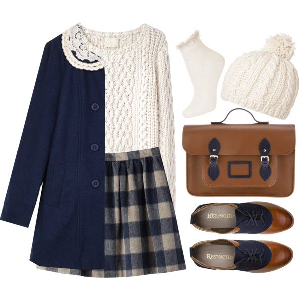 Winter is Near by sweetpastelady on Polyvore featuring moda, Band of Outsiders, Topshop, The Cambridge Satchel Company and Passigatti