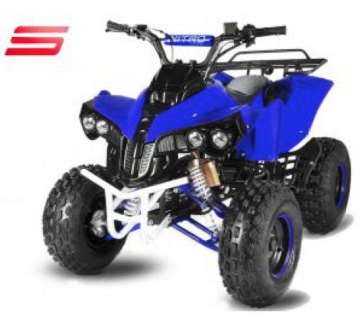 Quad 125cc Automatique Warrior E Start 8 Bleu Quad 125cc Trottinette Electrique