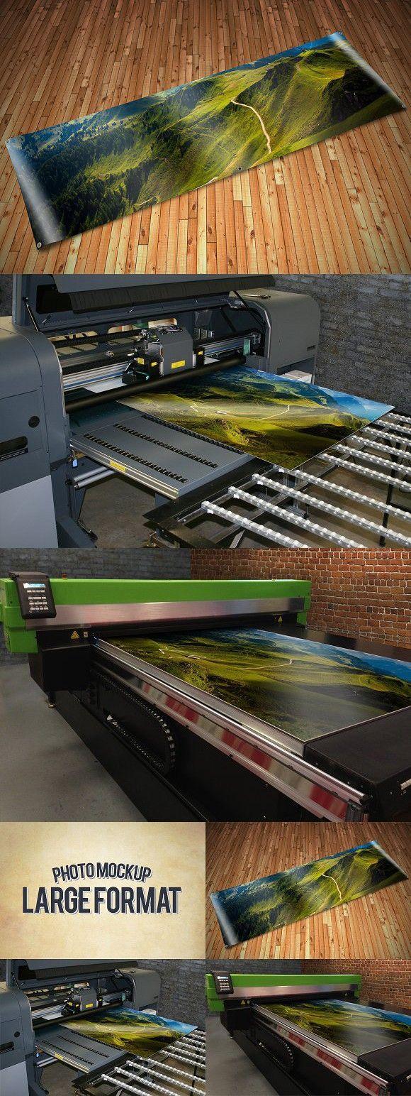 Large Format Print Mockups. Banner #largeformat #mockup