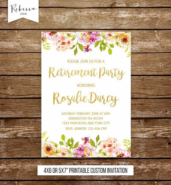 Woman Retirement Party Invitation Retirement Invitation Farewell Invitation  Moving Invitation Retirement Invite Floral Party Invitation By