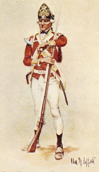 Private of Light Infantry, 10th Regiment of Foot, 1775.