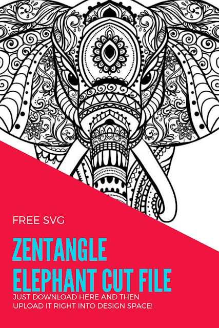 Download Chaos and Crafts Design: Free Zentangle Elephant SVG # ...