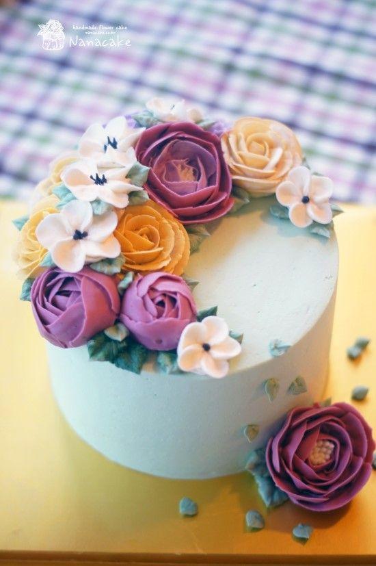 ::플라워케이크:: 친구생일날 특별하고 이쁜꽃케익으로 감동주기 ^^ by.나나 : 네이버 블로그