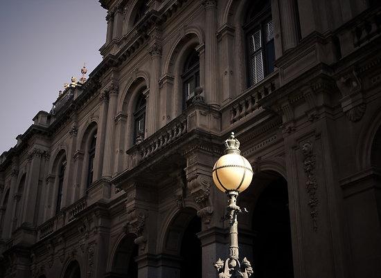 Light the court - Bendigo law courts