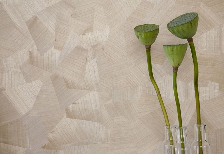 Our Origami Natural wallcovering is a striking design with a random geometric timber pattern, made from real veneer.