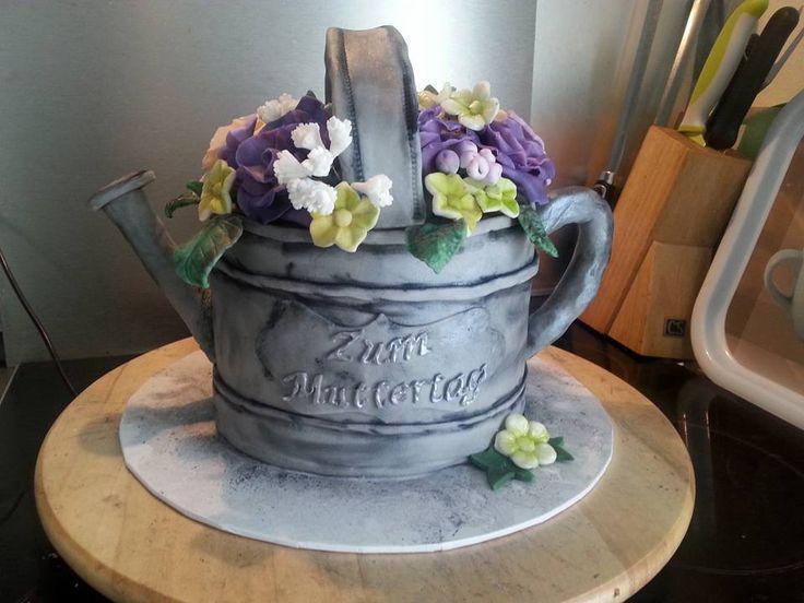 flower pot, mothersday cake