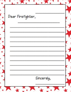 Firefighter Friendly Letter Writing Ideas Pinterest