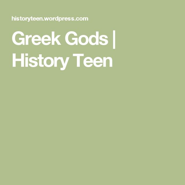 Greek Gods | History Teen