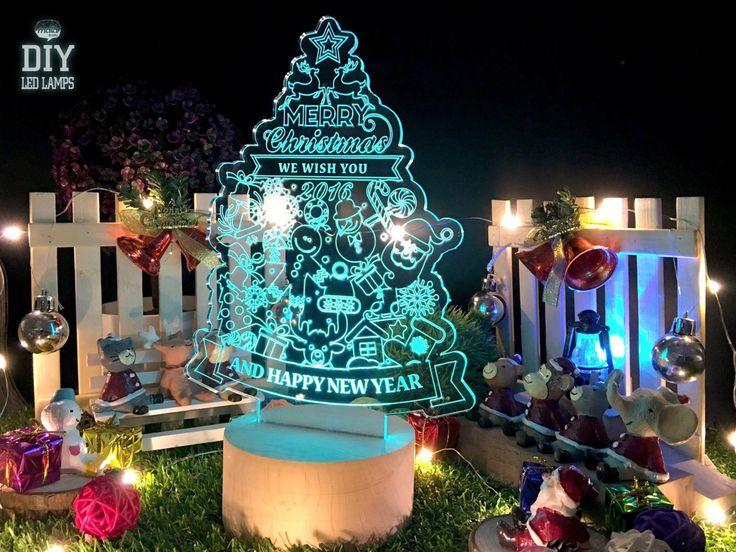 Christmas Tree/Christmas Lamp/Portable LED Lamp/Wireless LED Lamp/Desk Lamp/LED Light/Night Light/Mordern Light/Colour Changing Light/ by MalaStudio on Etsy
