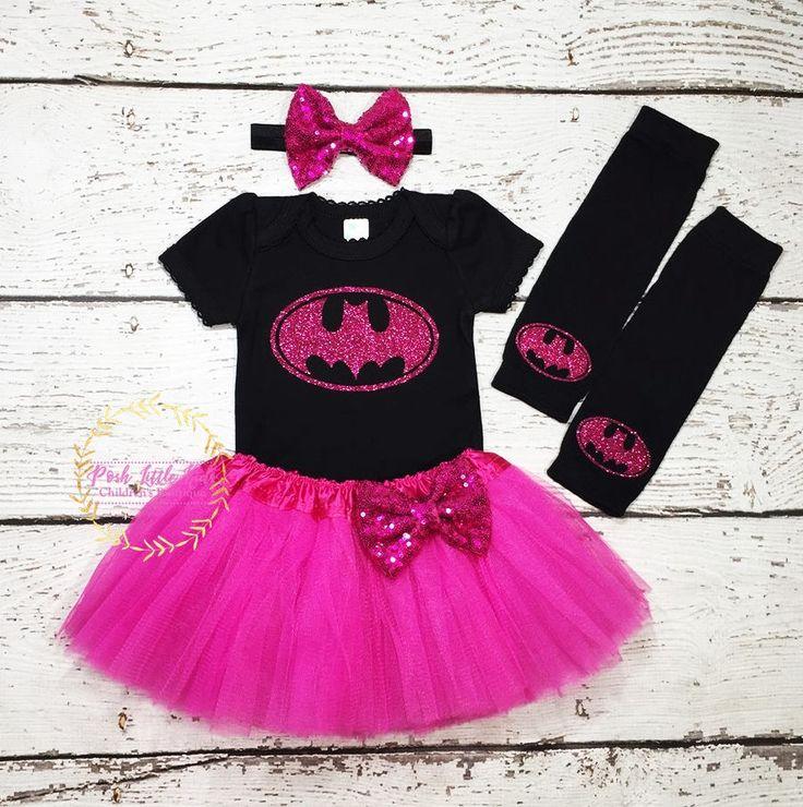 Batgirl Birthday girl outfit,4-pcs Set Batgirl outfit ,Batman tutu dress,Batman bodysuit,batman shirt,batman legwarmer,Batmen costum