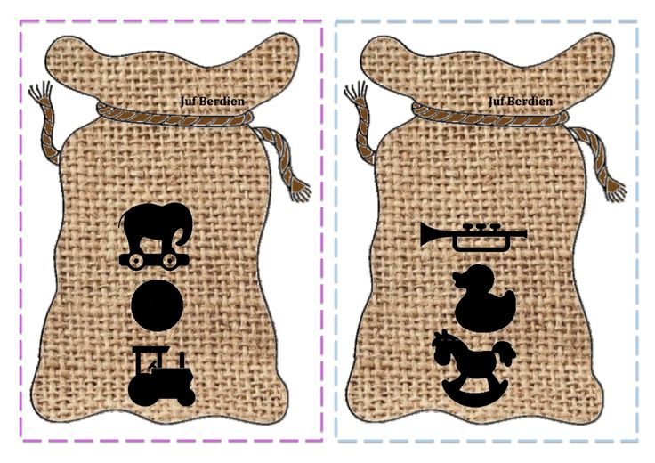 Juf Berdien zelfgemaakt stapel spel 3 speelgoed sinterklaas zak zwarte piet thema kleuters