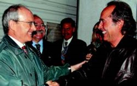 Con el ex president Montilla