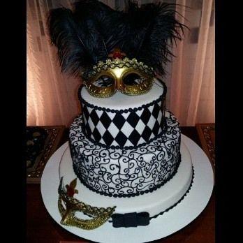 Baile de máscaras bolo mascara by https://instagram.com/rafafigbolos/