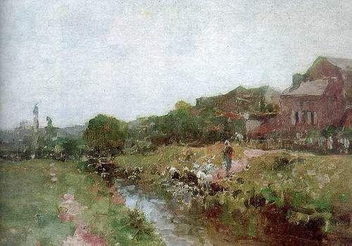 Spalatorese in Bretania - Nicolae Grigorescu