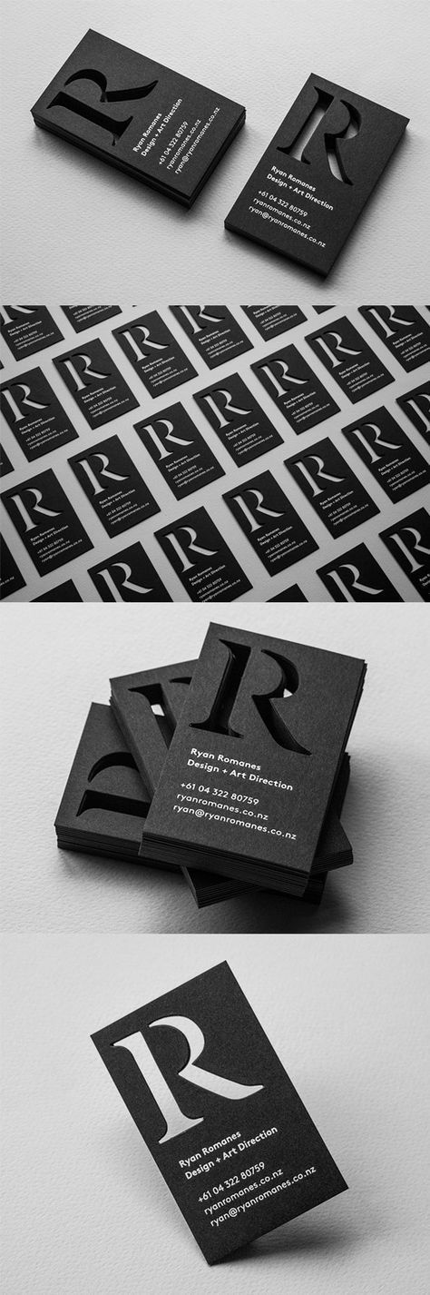 Ryan Romanes decided to produce this set of business cards for himself after a year of freelancing. #UniqueBusinessCards