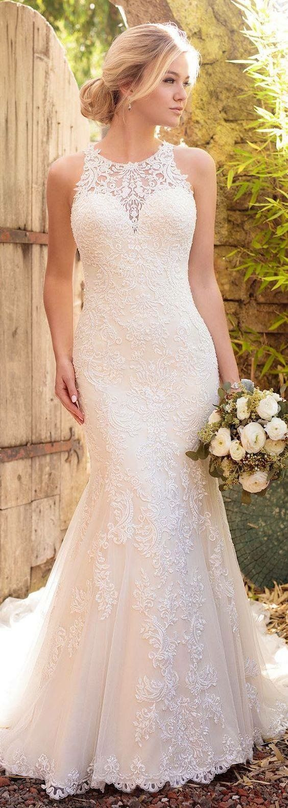 Lace wedding dress under 200 november 2018  best Wedding gown images on Pinterest  Wedding frocks Gown