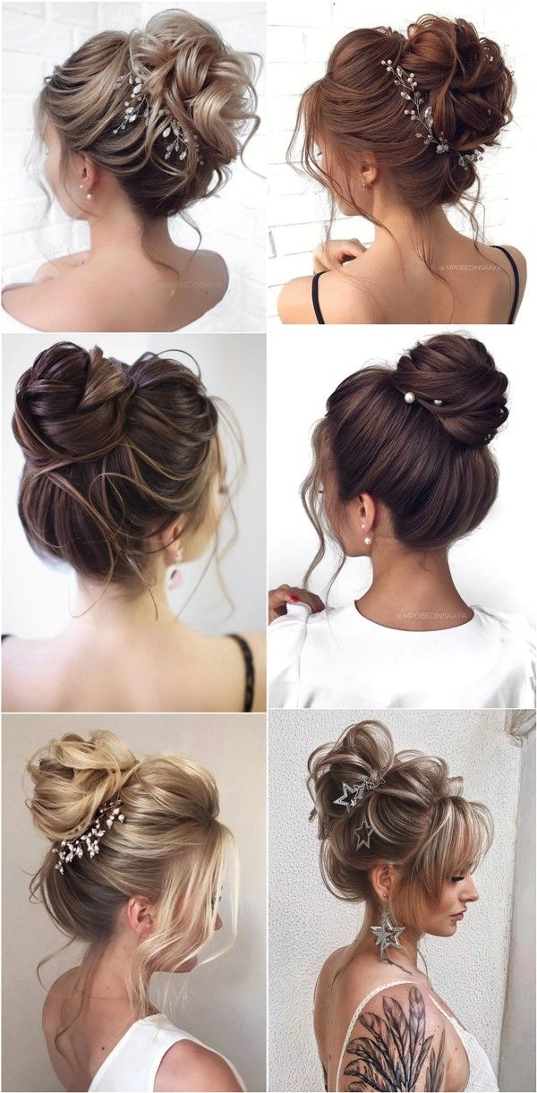 20 High Bun Wedding Updo Hairstyles For Long Hair In 2020 High Updo Wedding High Bun Hairstyles High Updo