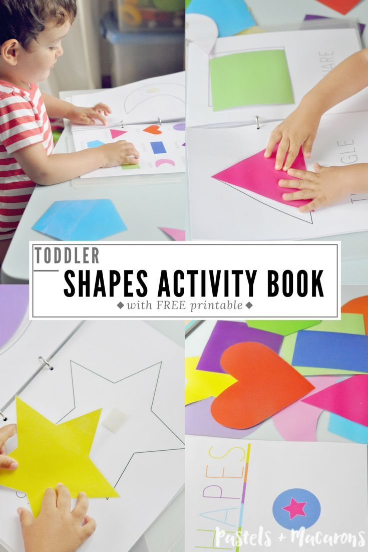 Toddler Shapes Activity Book with FREE PRINTABLE. Learn shapes, colours and problem solving skills. We loved doing this activity and my toddler goes back to this a lot. He loves matching the shapes and pointing out the colours.