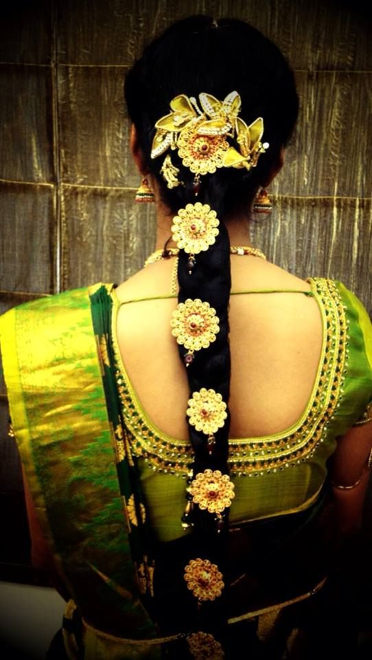 #South #Indian #bridal #hairstyle