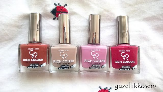 GOLDEN ROSE RICH COLOR NAIL POLISHES