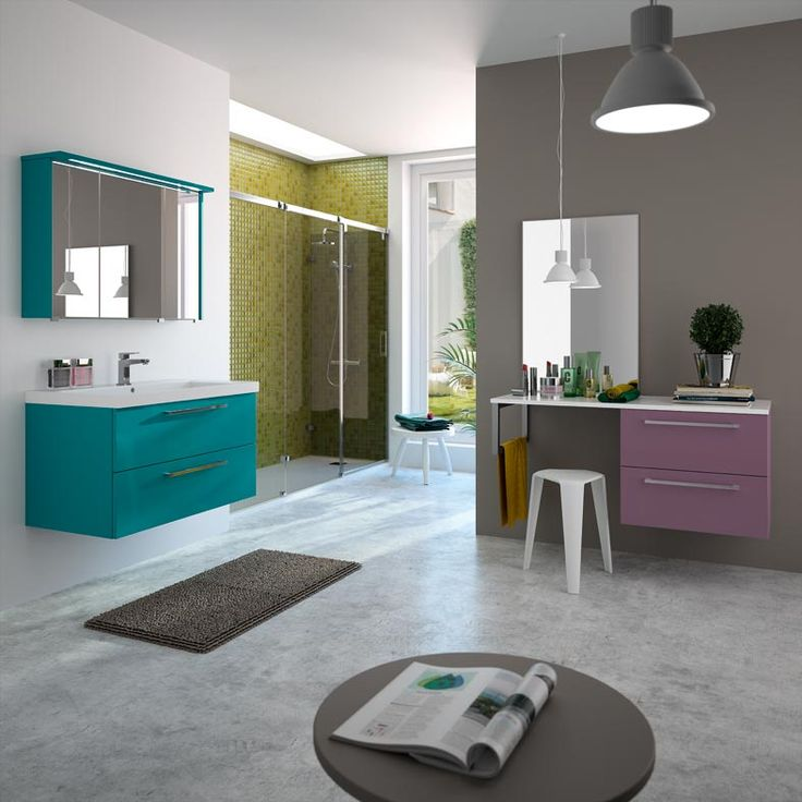 Meuble de salle de bain cedam gamme gloss mod le for Peinture brillante ou satinee