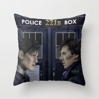 Throw Pillow featuring Wholock by Mascmallow