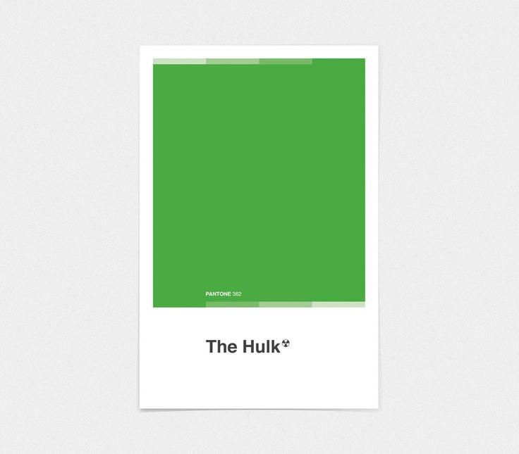 "Hulk - Pantone Poster Marvel Avengers 11x17"" Superhero Wall Art Home Decor"