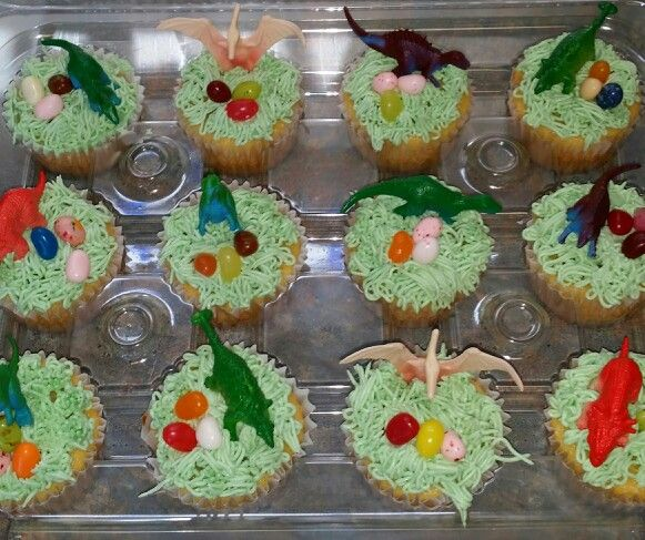 Dinosaur cupcakes  Birthday Party Ideas!  Pinterest