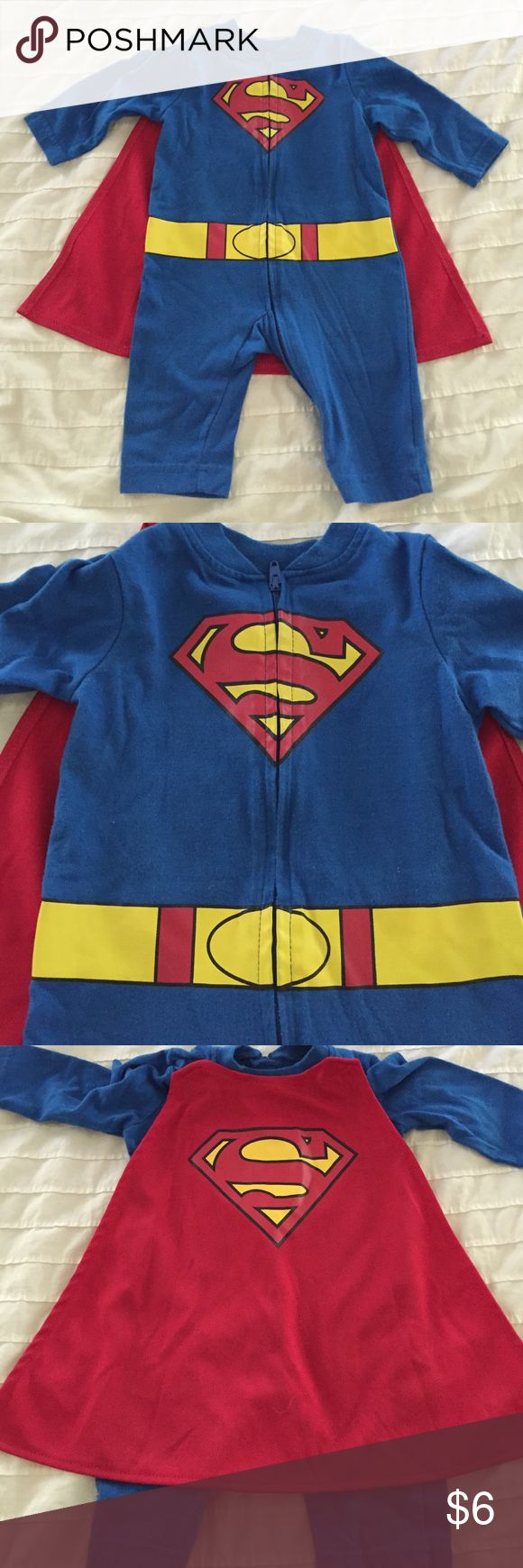 Baby Superman outfit w/ detachable cape 0-3 months Adorable superman outfit for…