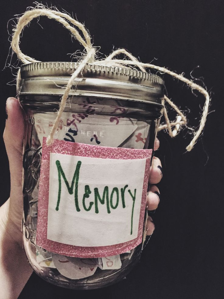 Memory Jar  Good for best friend gifts