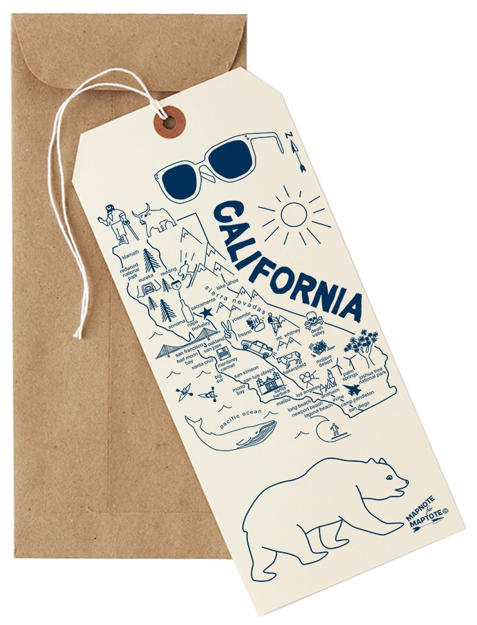Urbanic Paper Boutique — California Mapnote Card