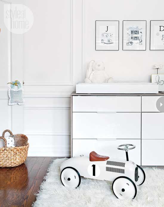 Glamorous modern nursery via Style At Home! #laylagrayce #nursery #modern