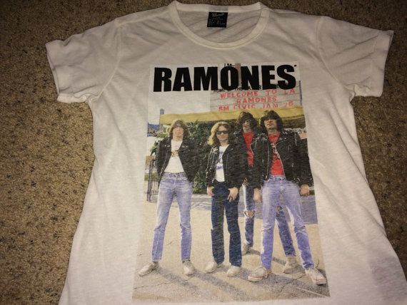 Sale Vintage RAMONES T-shirt womens band concert tee by casualisme