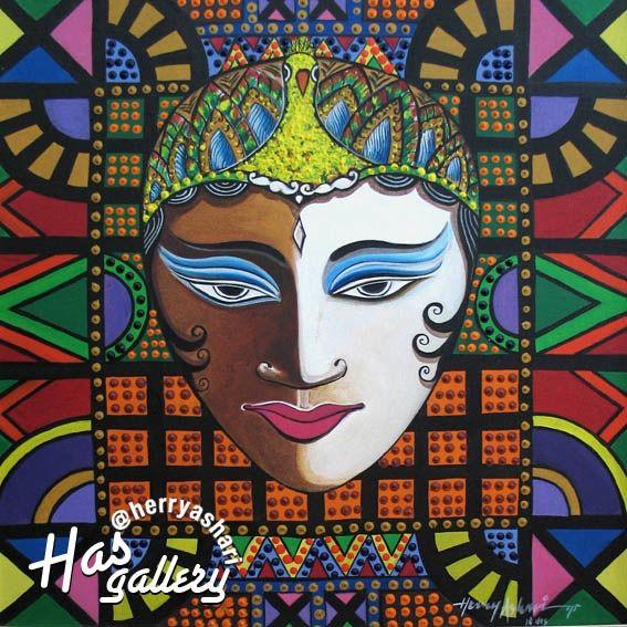 """Srikandi"" Artis : Herry Ashari Material on Canvas-Acrylic Size : 50cm x 50cm"