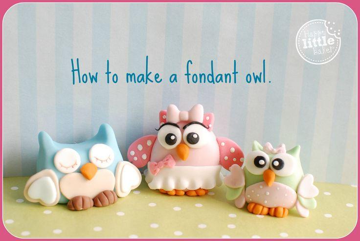 17 Best Ideas About Fondant Owl On Pinterest Owl