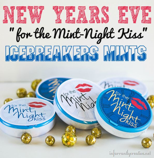 FREE PRINTABLE New Year's Eve for the Mint Night Kiss. #canonPIXMA