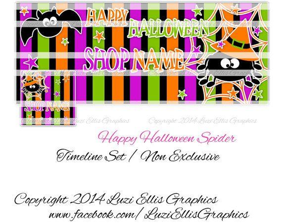 Halloween Spider Facebook Timeline Banner & by LuziEllisGraphics