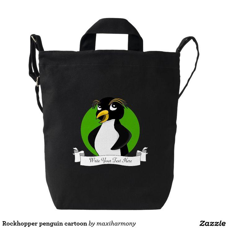 Rockhopper penguin cartoon duck canvas bag