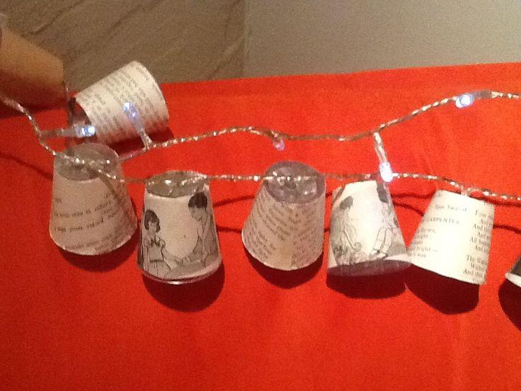 Petite paper lanterns for fairy lights