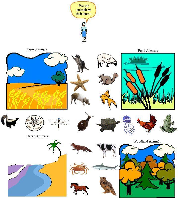 Animal Habitat Activities Printables Common Core Lesson