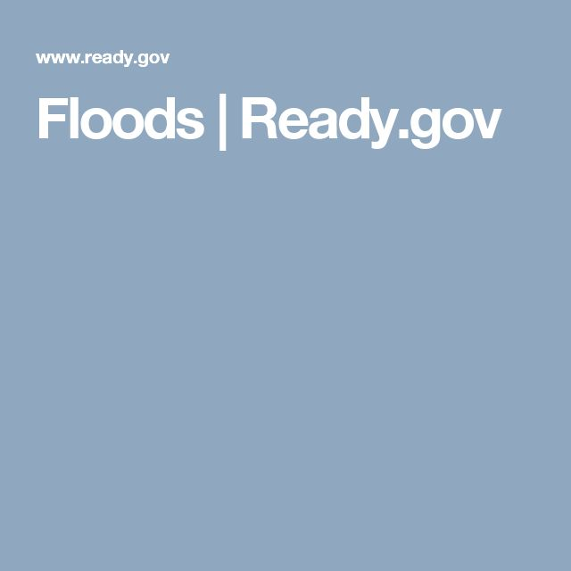 Floods | Ready.gov