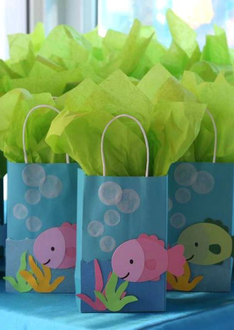 Under the sea birthday party favors! See more party planning ideas at CatchMyParty.com!