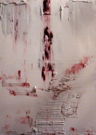 Untitled - Asbestos & Oil on canvas  www.vasilisangelopoulos.com