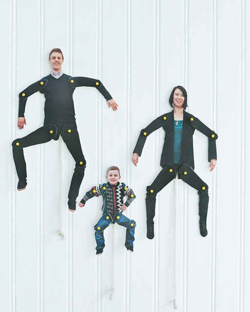 Know what's funny? Turning your family into dancing cutouts. | 23 Silly DIY Projects That Will Make You Laugh Out Loud