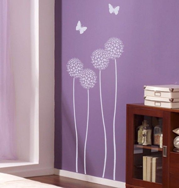 Flower Stencil Allium Twins  Stencils for by CuttingEdgeStencils, $34.95