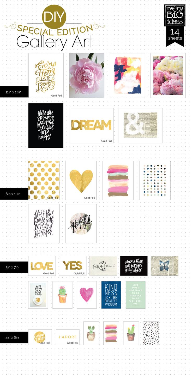Zo gaaf!! Je krijgt een grote blocnote met vele posters erin zodat je thuis een mooie collage kunt maken. Zie de website van me and my big ideas. Color Me Happy DIY Gallery Art Pad | me & my BIG ideas